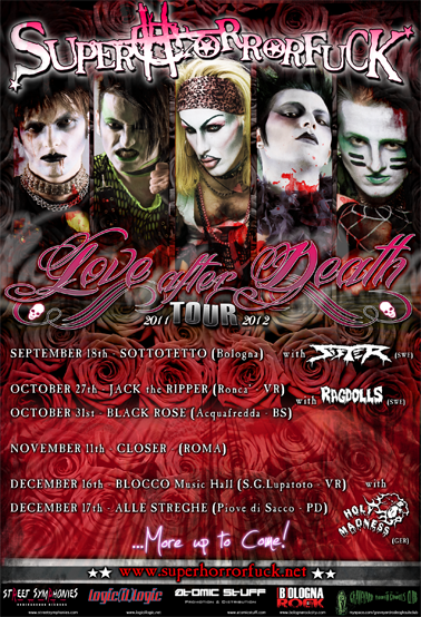 Superhorrorfuck: parte il tour 2011/12