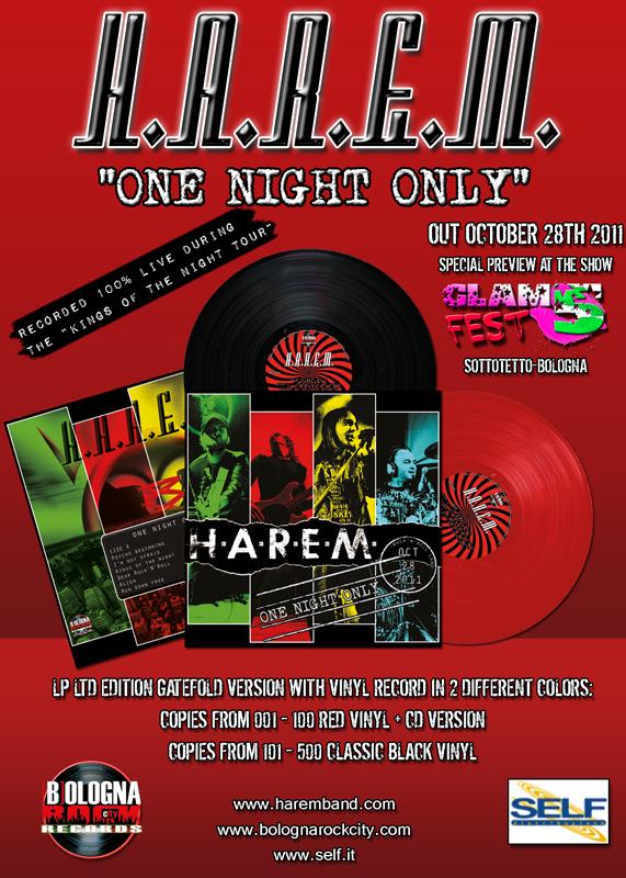 In uscita il live album degli H.A.R.E.M.
