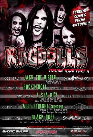 Ragdolls: tornano in Italia nella settimana di Halloween!