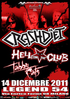 Crashdiet: unica data Italiana a Milano