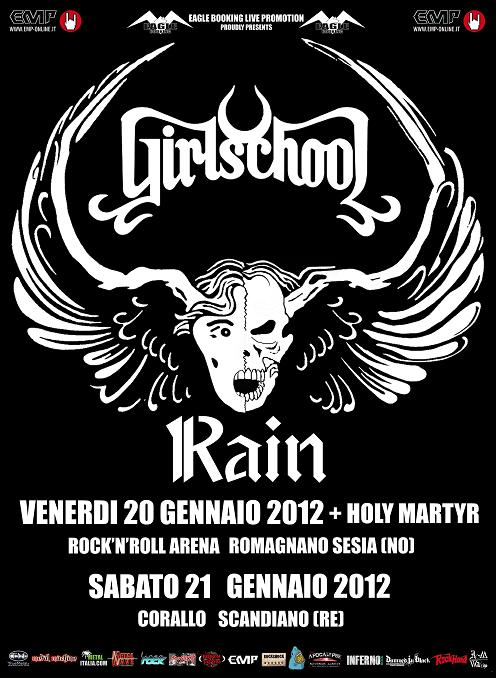 Girlschool: a gennaio In Italia con uno show speciale