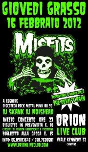 Orion presenta i Misfits in concerto