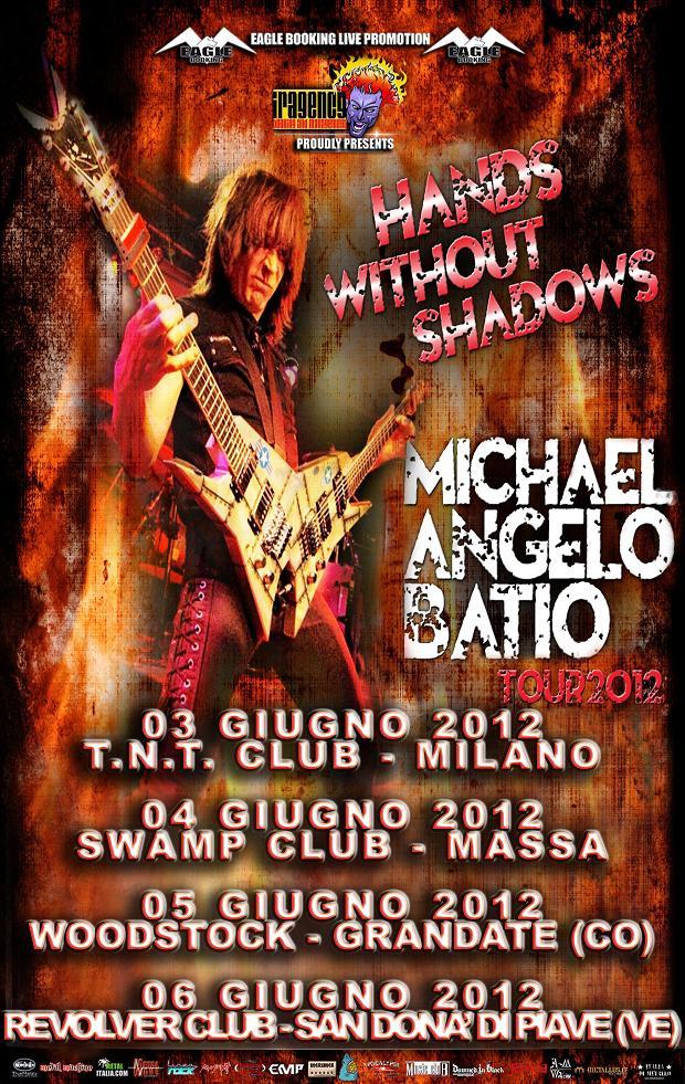 Comunicato Stampa: Michael Angelo Batio: In Italia a Giugno