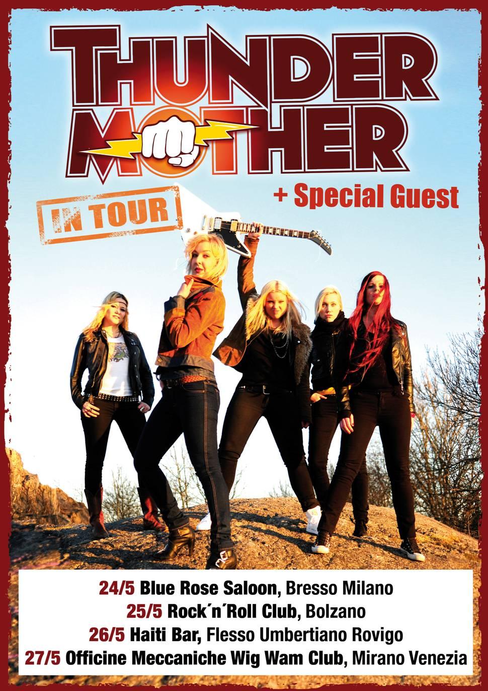 In arrivo in Italia per il loro primo tour promozionale, le svedesi Thundermother!