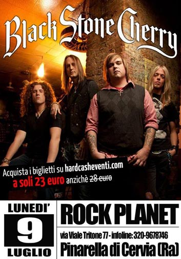 Black Stone Cherry: il 9 luglio al Rock Planet con i Noise Pollution