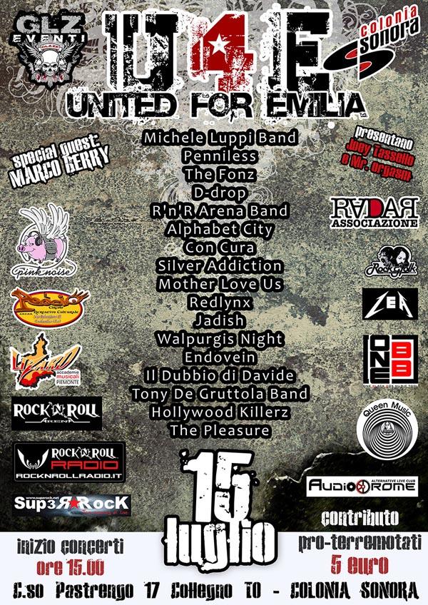 Una giornata di puro Rock dedicata ai terremotati dell'Emilia