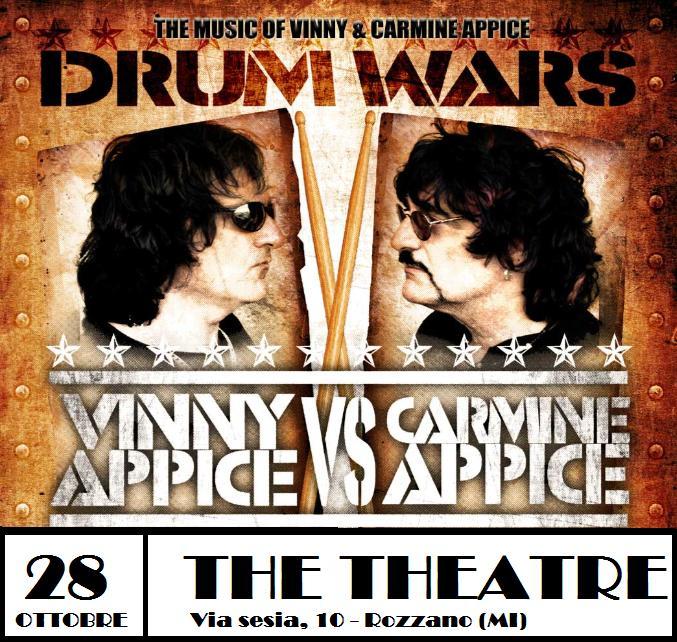 Drumwars: Vinnie e Carmine Appice insieme a Milano