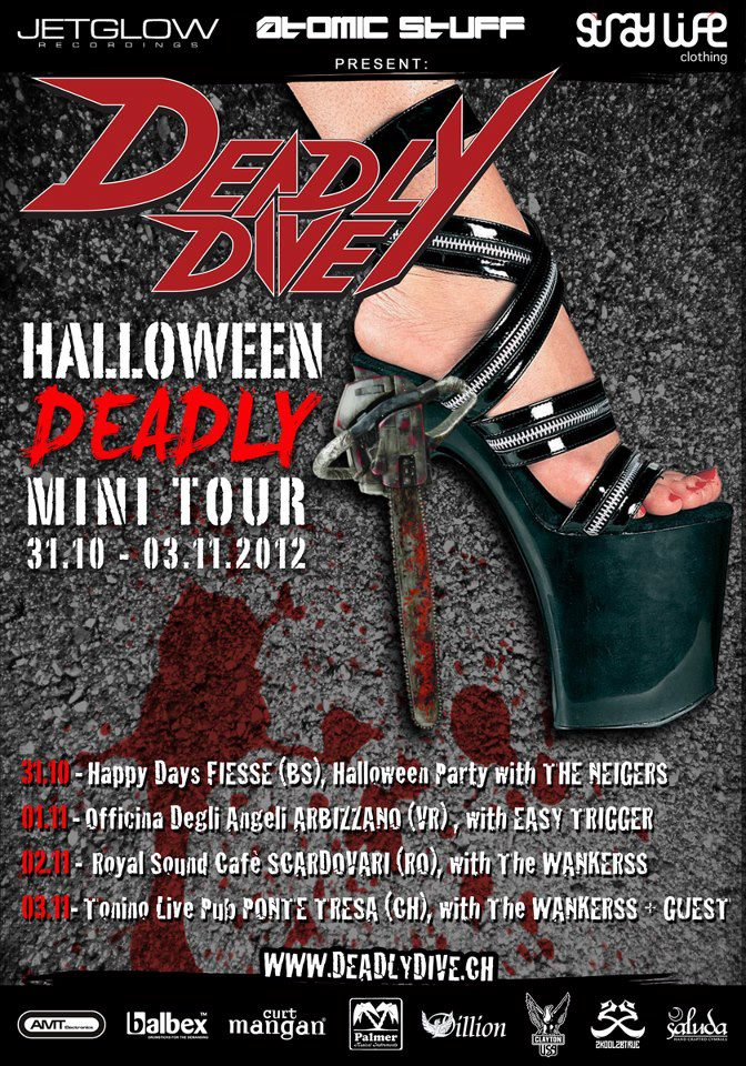 Deadly Halloween: mini tour italiano per i Deadly Dive