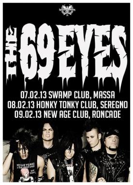 The 69 Eyes in Italia a febbraio