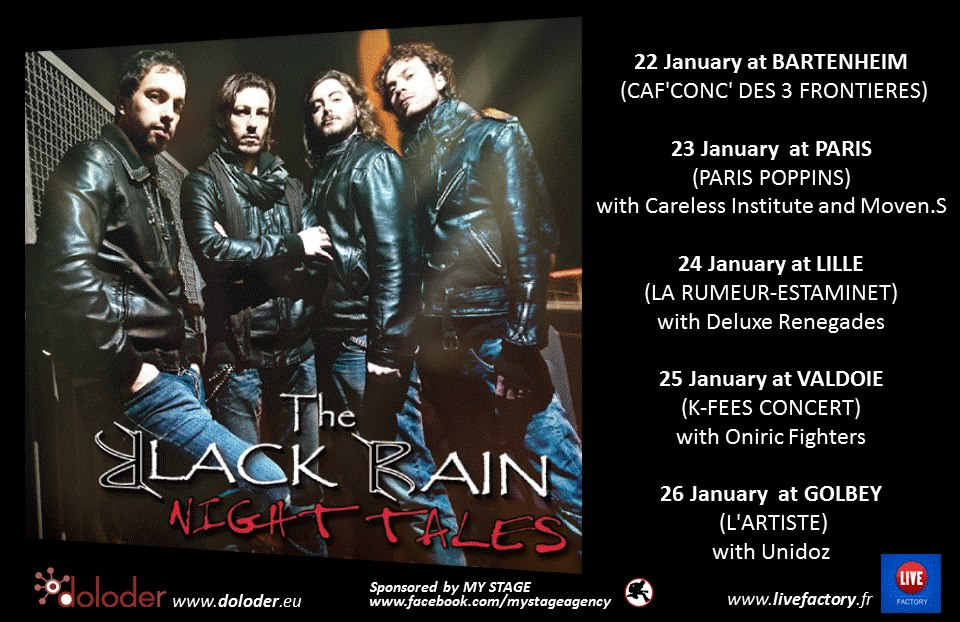 "The Black Rain: arriva ""The Night Tales French Tour"""
