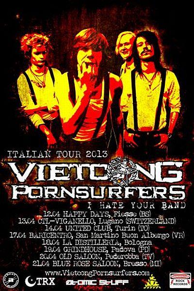 Vietcong Pornsurfers in Italia per 7 date!