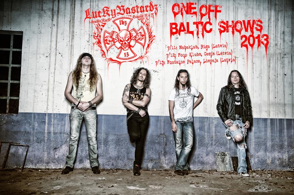 Lucky Bastardz: tre date in Lettonia