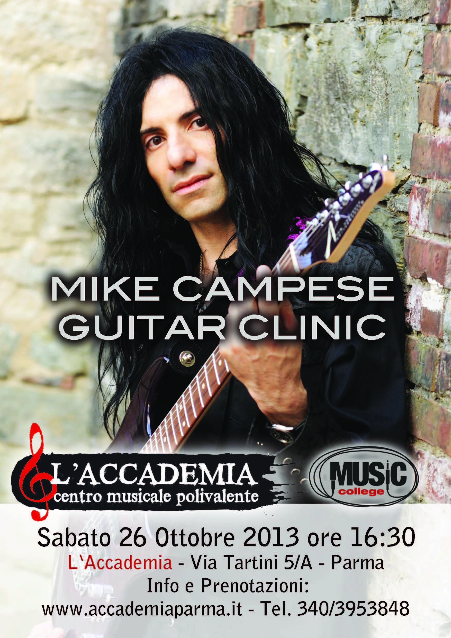 Mike Campese: clinic a Parma per il chitarrista