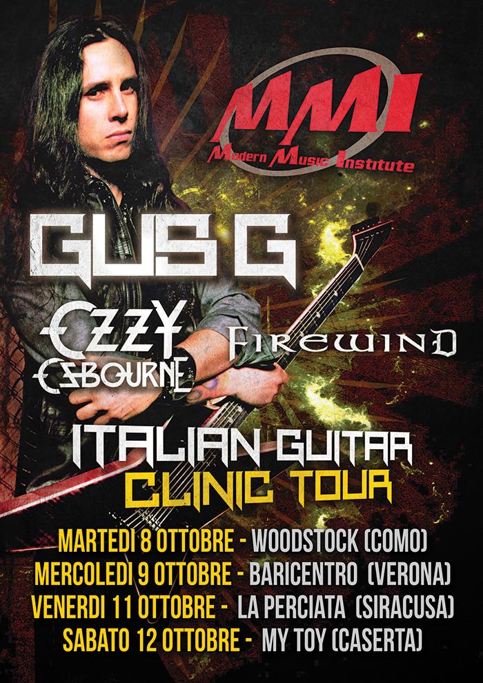 Gus G in Italia: Clinic Tour per MMI ad ottobre
