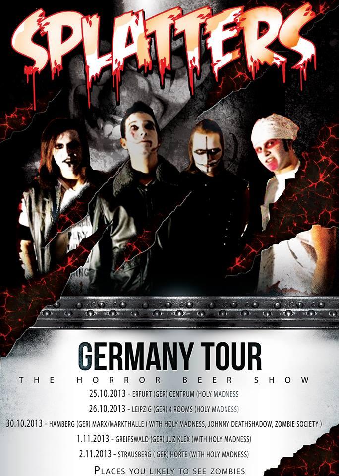 Splatters: tour tedesco in arrivo