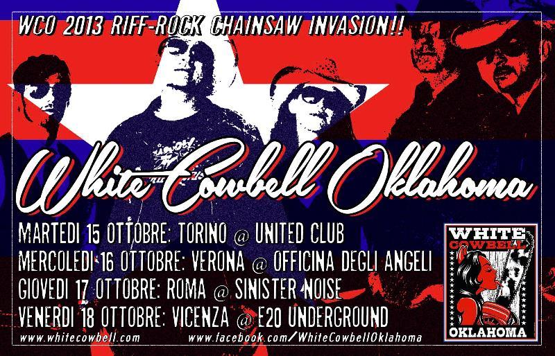 I White Cowbell Oklahoma arrivano in Italia per ben quattro date