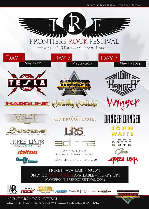 Frontiers Rock Festival: la line-up