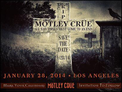 Motley Crue: l'annuncio ufficiale del ritiro