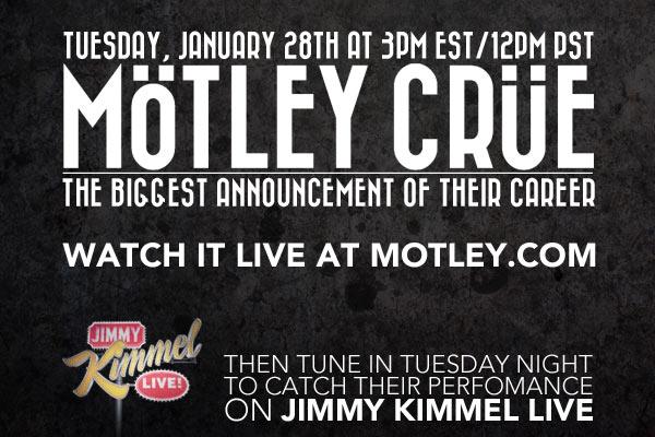 Motley Crue annunciano il final tour