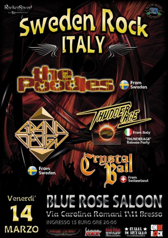 Sweden Rock Italy: l'evento AOR e Hard Rock al Blue Rose Saloon di Bresso (MI)