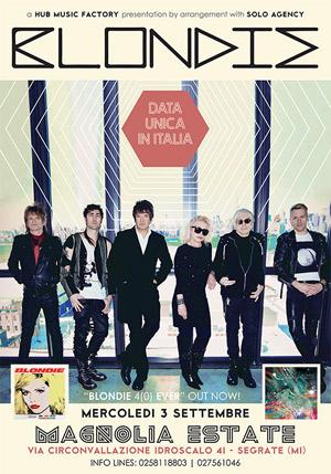 Blondie: per la prima volta dal vivo in Italia