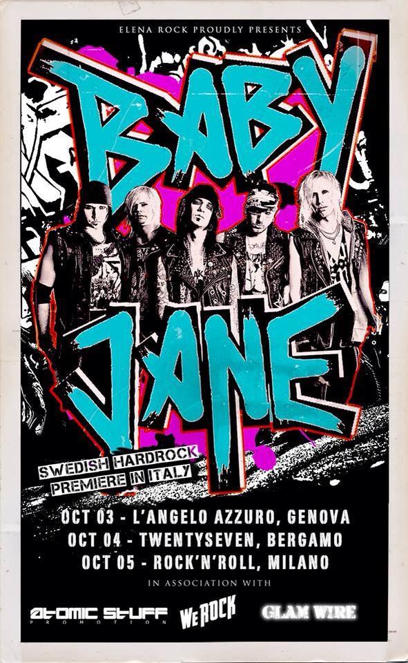 Baby Jane: tre concerti in Italia