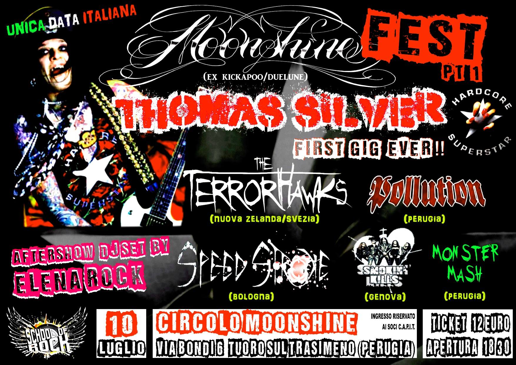 Thomas Silver degli Hardcore Superstar al Moonshine fest