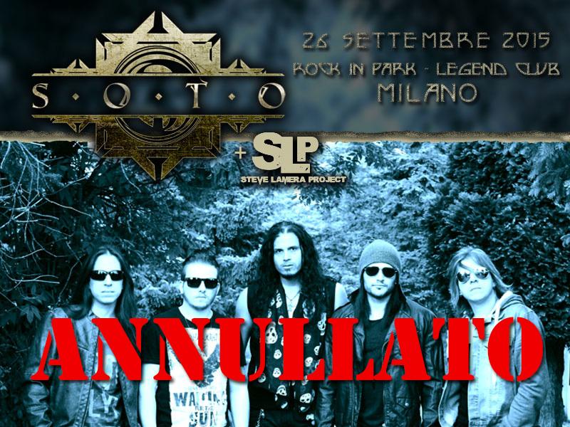 SOTO: cancellato il tour europeo della band di Jeff Scott Soto