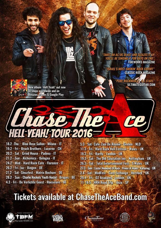Chase The Ace: quattro date in Italia a febbraio