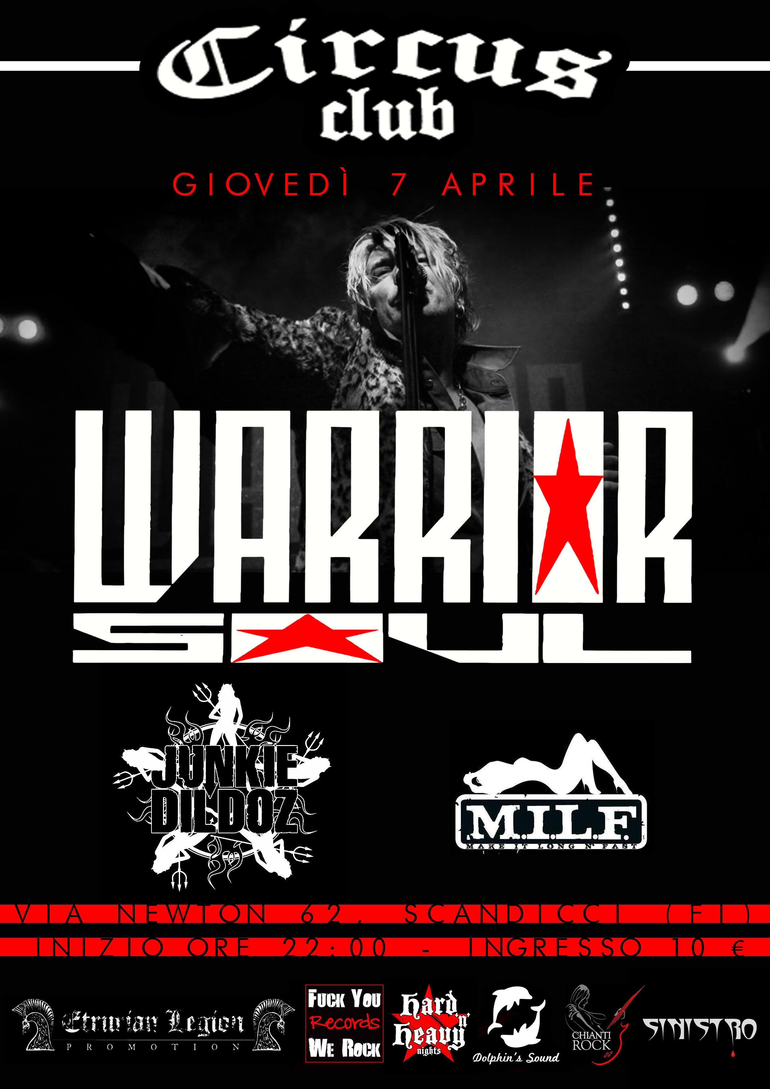 Warrior Soul ad aprile in Italia