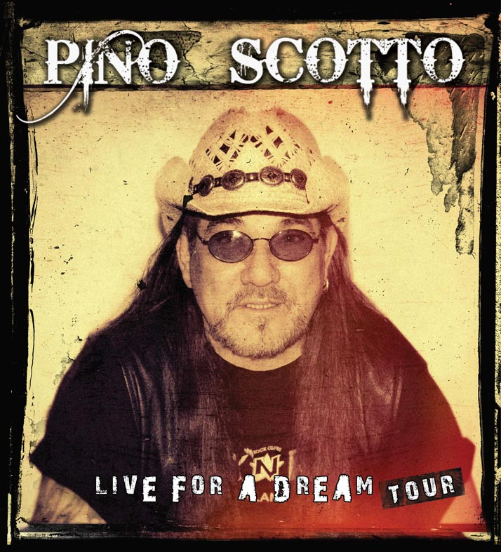 "Pino scotto: firma con Nadir Music per l'uscita di ""Live For A Dream"""