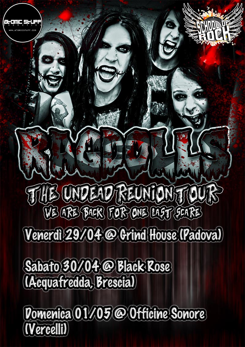 Ragdolls: si riformano per un mini tour in Italia