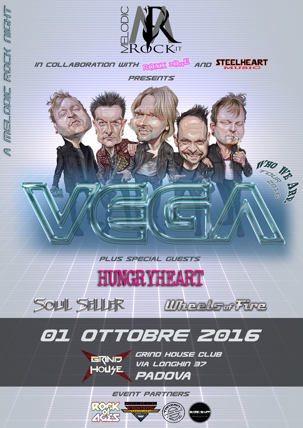 """Nasce """"A Melodic Rock Night"""": i britannici Vega headliner della prima edizione"""