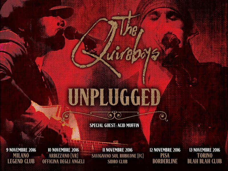 Quireboys: nuova data e special guest per il tour unplugged
