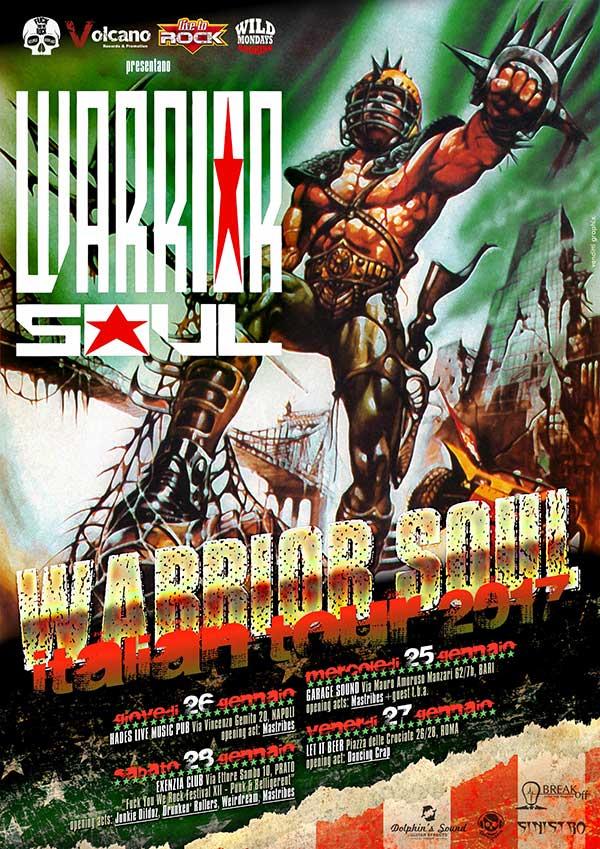 Tour italiano per i Warrior Soul