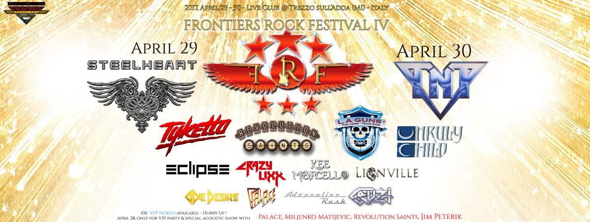 Frontiers Rock Festival 2017: la scaletta completa