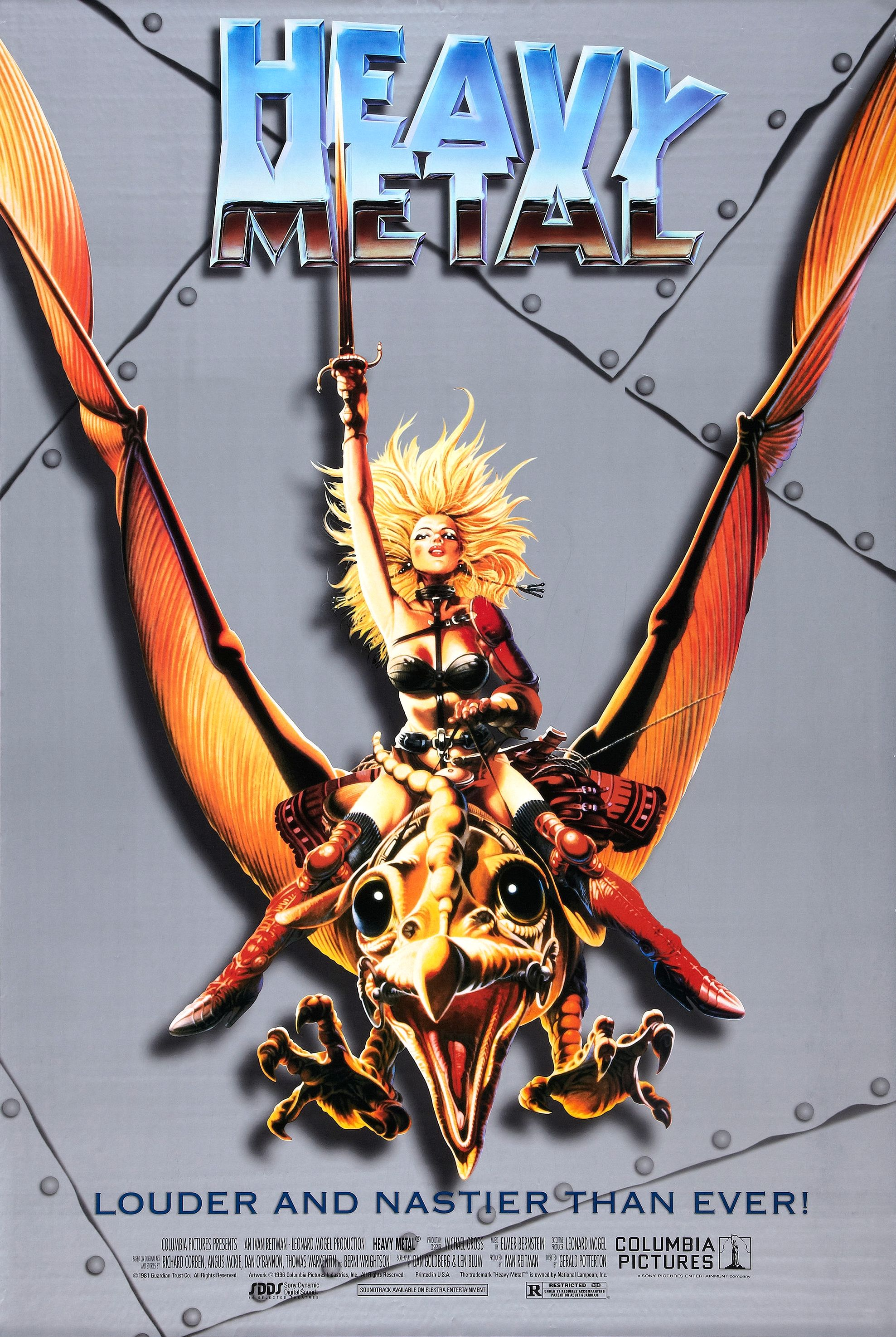 heavy metal movie poster 1981 1996 slam. Black Bedroom Furniture Sets. Home Design Ideas
