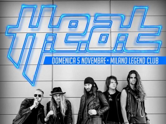 H.E.A.T.: a novembre un'unica data Italiana