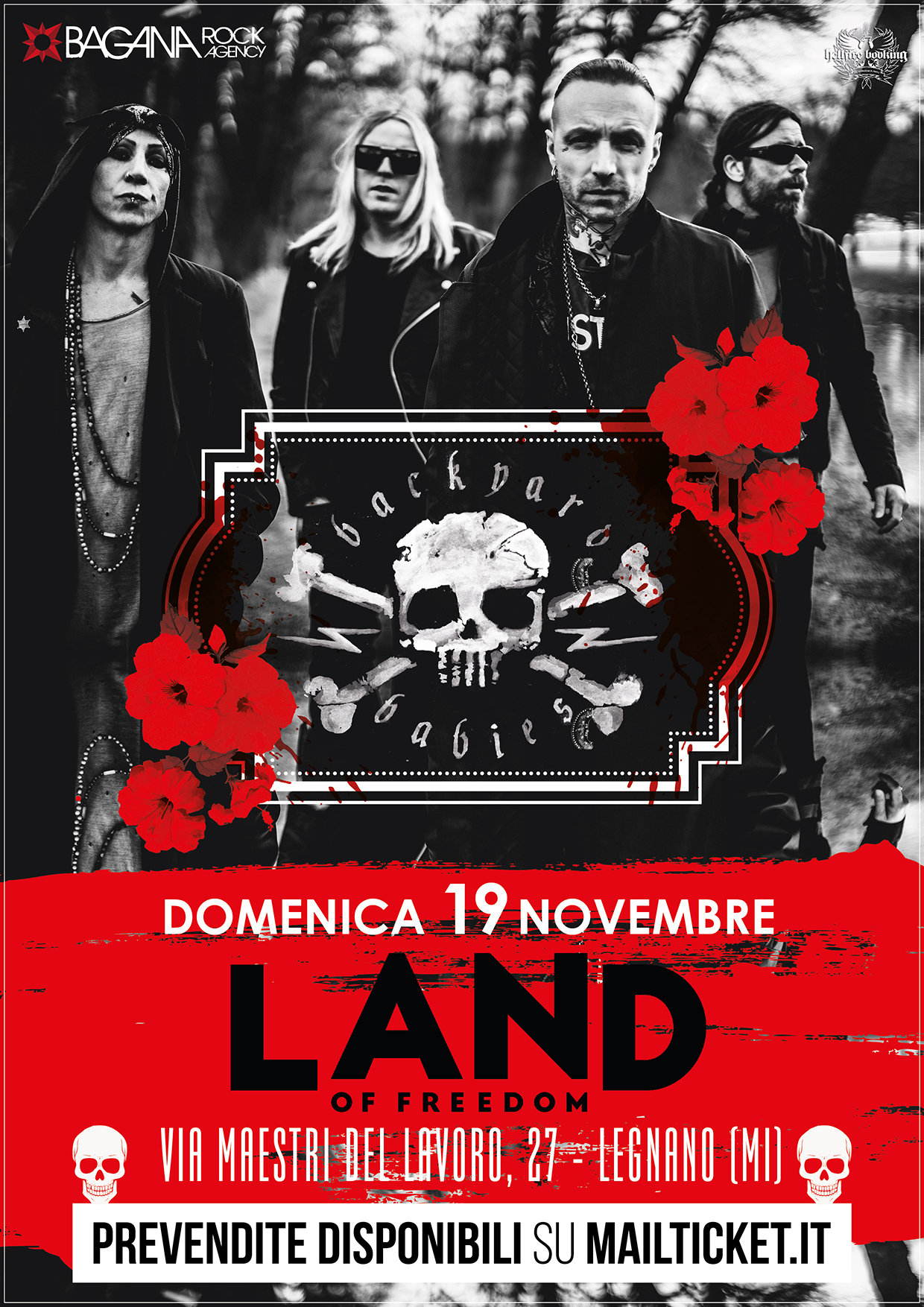 Backyard Babies: unica data in Italia il 19 novembre a Milano