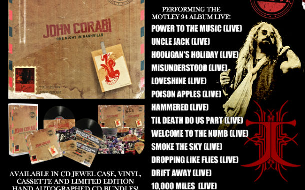 "Fuori per la Rat Pak Records John Corabi ""Live 94 (One Night In Nashville)"""