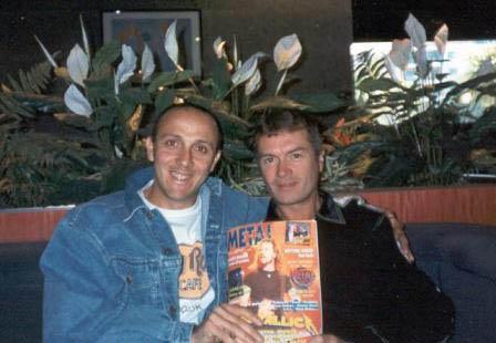 Gianni Della Cioppa con Glenn Hughes