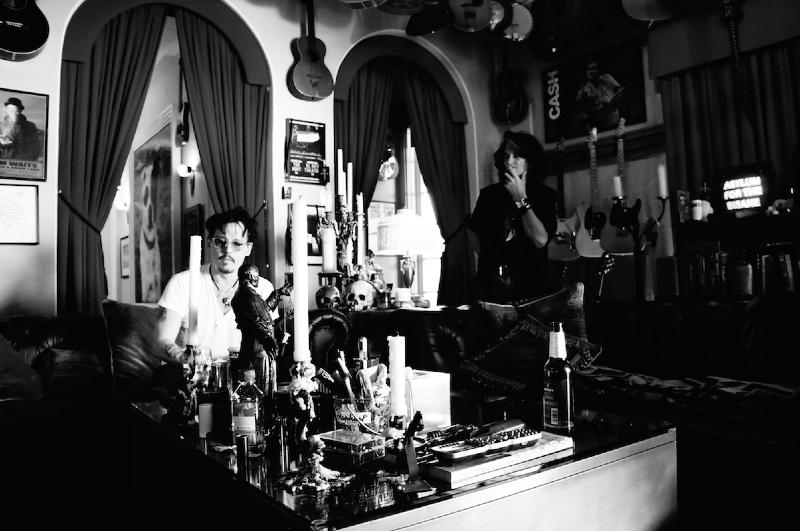 Johnny Depp e Alice Cooper