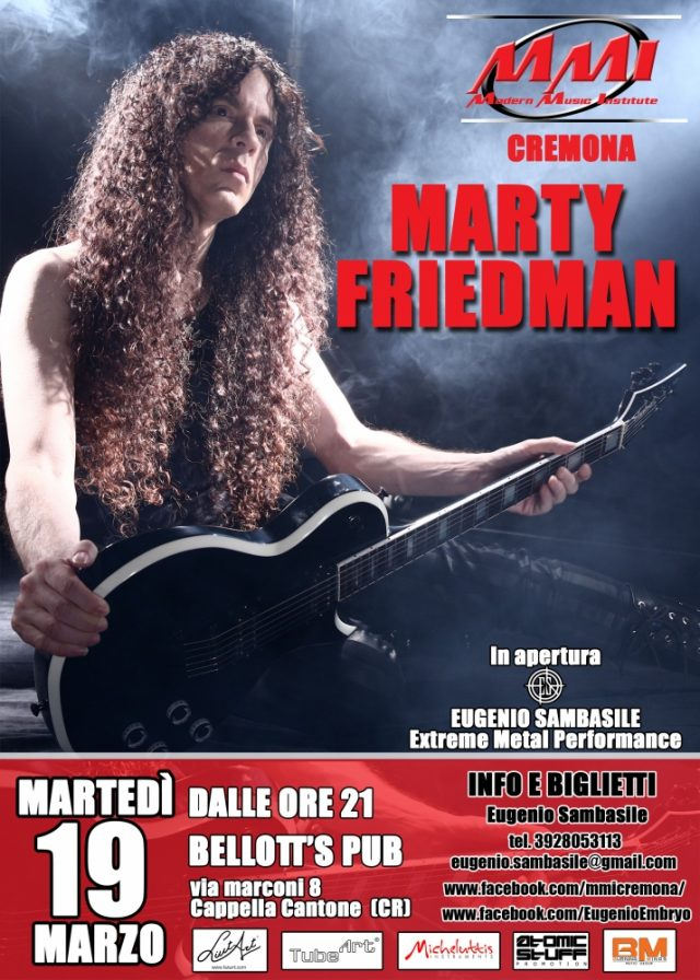 Marty Friedman a Cremona