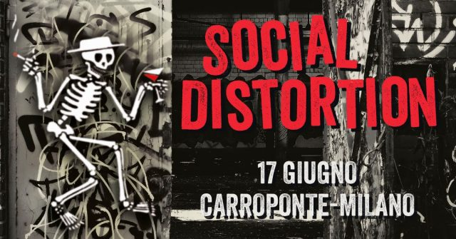 Social Distortion a Milano: A Carroponte l'esclusiva tappa del tour 2020
